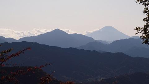 高尾山山頂から富士山
